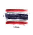 realistic watercolor painting flag of thailand vector image vector image