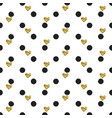 seamless hand drawn ink polka dot pattern with vector image vector image