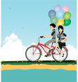 Seaside Cycling vector image