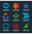 set abstract logo design template abstract vector image