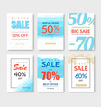set winter sale banners and web templates a4 vector image