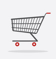 shopping cart flat design icon vector image