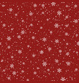 snowflakes seamless pattern christmas red vector image