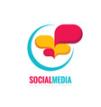 social media - speech bubbles logo concept vector image vector image