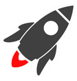 space rocket flat icon symbol vector image