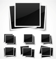 Square empty photo frames vector image