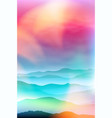 summer background with mountains in the fog vector image vector image