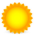sun glowing sun on white vector image