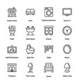 sweet home outline icons vector image vector image