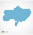 ukraine map and flag icon vector image