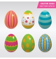 Vintage easter egg design set vector image vector image