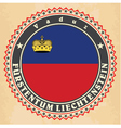 vintage label cards liechtenstein flag vector image vector image