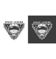 vintage monochrome space badge vector image vector image