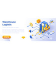 warehouse logistics - banner layout template for vector image vector image