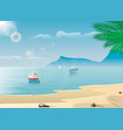 yachts near a tropical island summer active vector image vector image