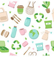 zero waste concept seamless pattern with different vector image vector image