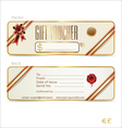 Gift voucher front and back design vector image