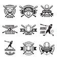 monochrome labels or emblem for baseball club vector image