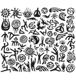 Yoga meditation - symbols set vector image