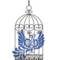 antique bird cage with bird