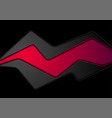 abstract black and red corporate background vector image vector image