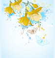 abstract tropical flowers vector image vector image
