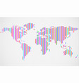 abstract world map with lines vector image vector image