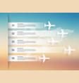 airplane and world map infographic can be used vector image vector image