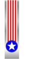 american flag symbols ribbon frame vector image vector image