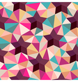background of repeating geometric stars and vector image vector image