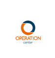 badge for operation center vector image