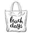 Beach days Brush hand lettering vector image