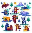 bear cartoon animal character panda and vector image