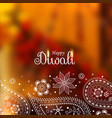 beautiful diwali background with paisley design vector image vector image