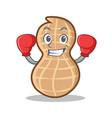 boxing peanut character cartoon style vector image