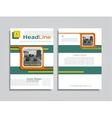 Brochure design layout with place for your data vector image vector image