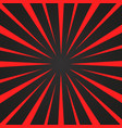 burst red and black rays background designed for vector image vector image