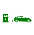 car electric charge icon vehicle charge vector image