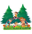 children playing on monkey bars vector image vector image