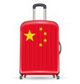china flag on a luggage travel bag vector image