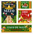 cinco de mayo mexican holiday invitation banner vector image vector image