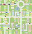 City seamless pattern Modern metropolis with vector image