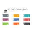 cloud computing infographic 10 option line concept vector image