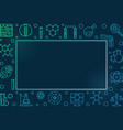 colorful frame with chemistry outline icons vector image vector image