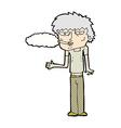 comic cartoon smoker vector image vector image