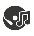 compact disk with audio icon vector image vector image