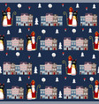 cute winter seamless fabric pattern with st vector image vector image