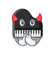 devil piano mascot cartoon style vector image vector image
