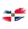 dominican republic flag grunge brush background vector image vector image