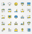 electric car colorful icons set - electric vector image